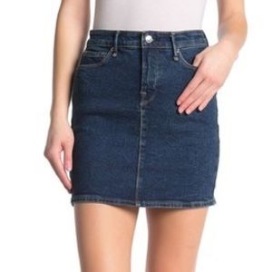 NWT Good American The Denim Mini Skirt